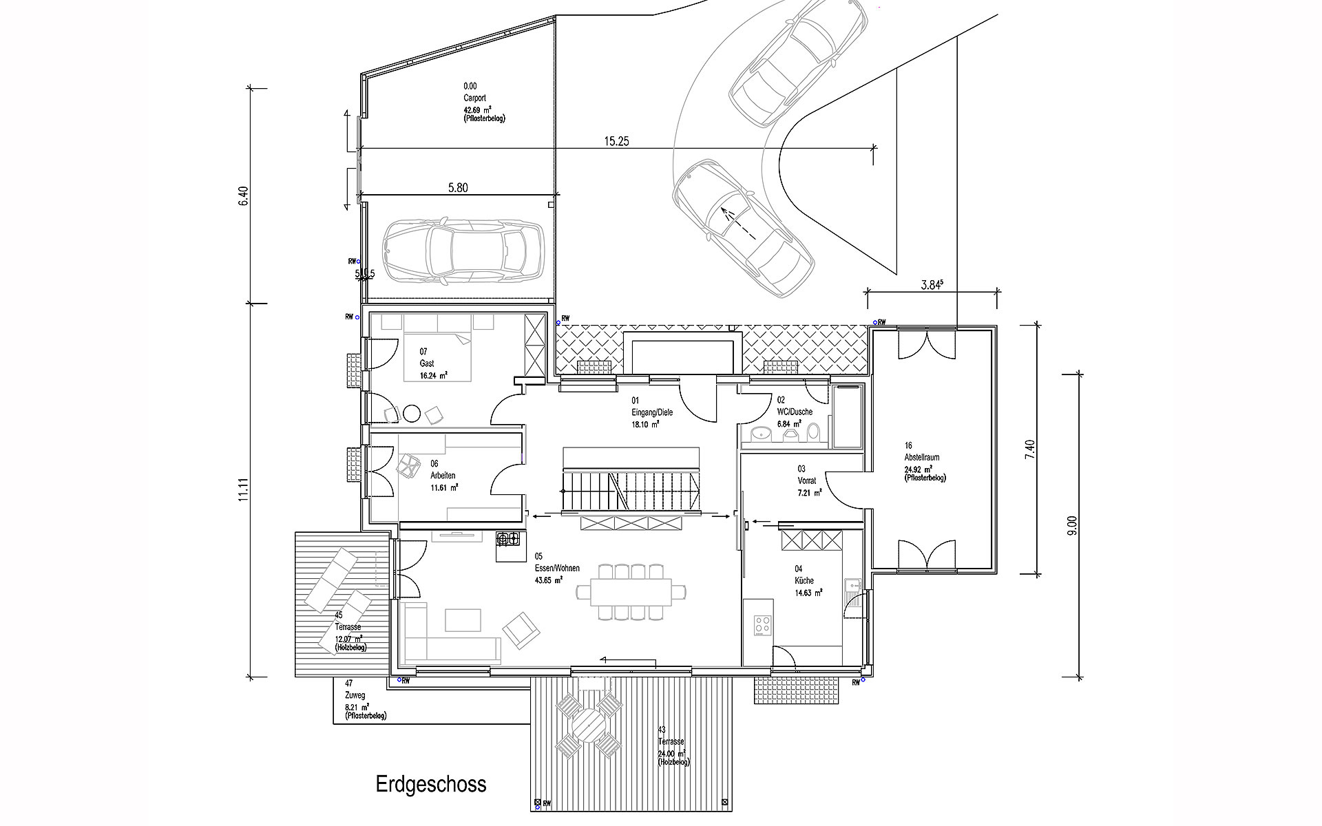 Erdgeschoss Oberndorf von Sonnleitner Holzbauwerke GmbH & Co. KG