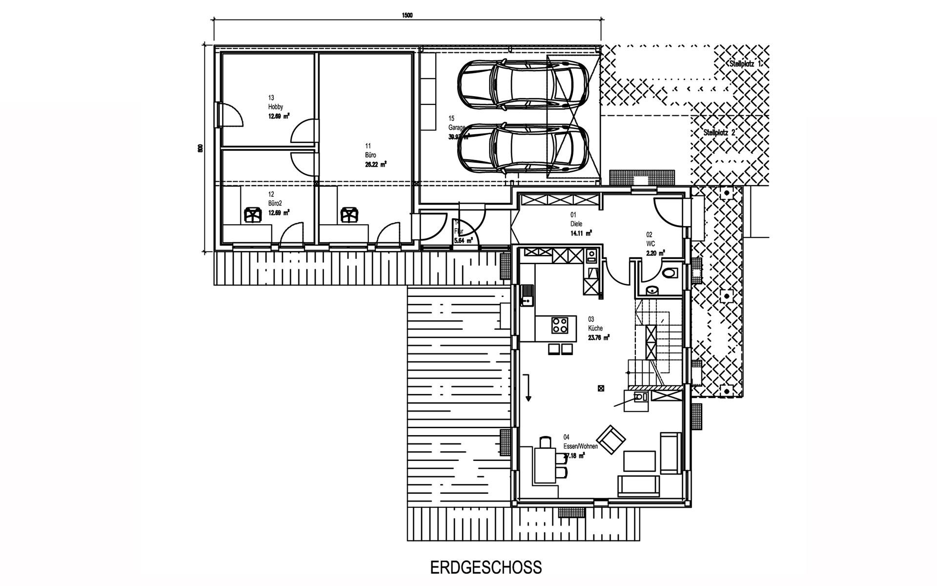 Erdgeschoss Prien von Sonnleitner Holzbauwerke GmbH & Co. KG