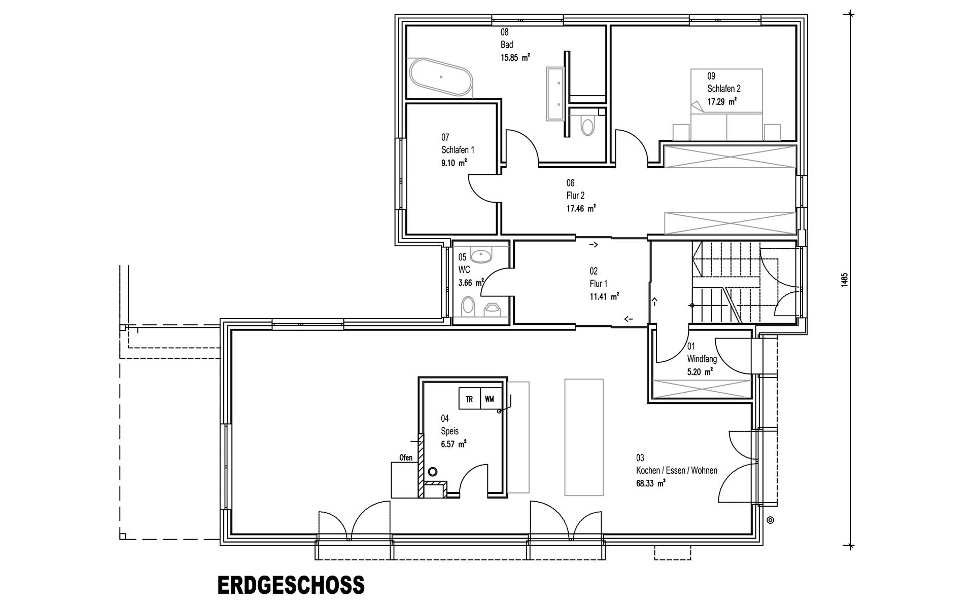 Erdgeschoss Rodler von Sonnleitner Holzbauwerke GmbH & Co. KG