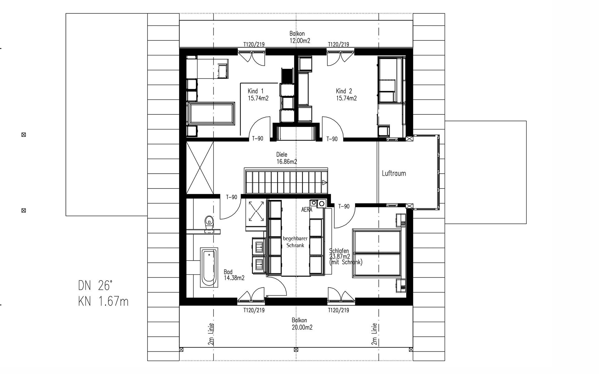Dachgeschoss Rosenheim von Sonnleitner Holzbauwerke GmbH & Co. KG