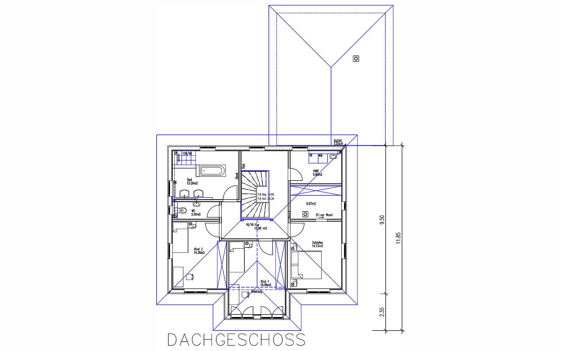 Obergeschoss Viertelsbacher von Sonnleitner Holzbauwerke GmbH & Co. KG