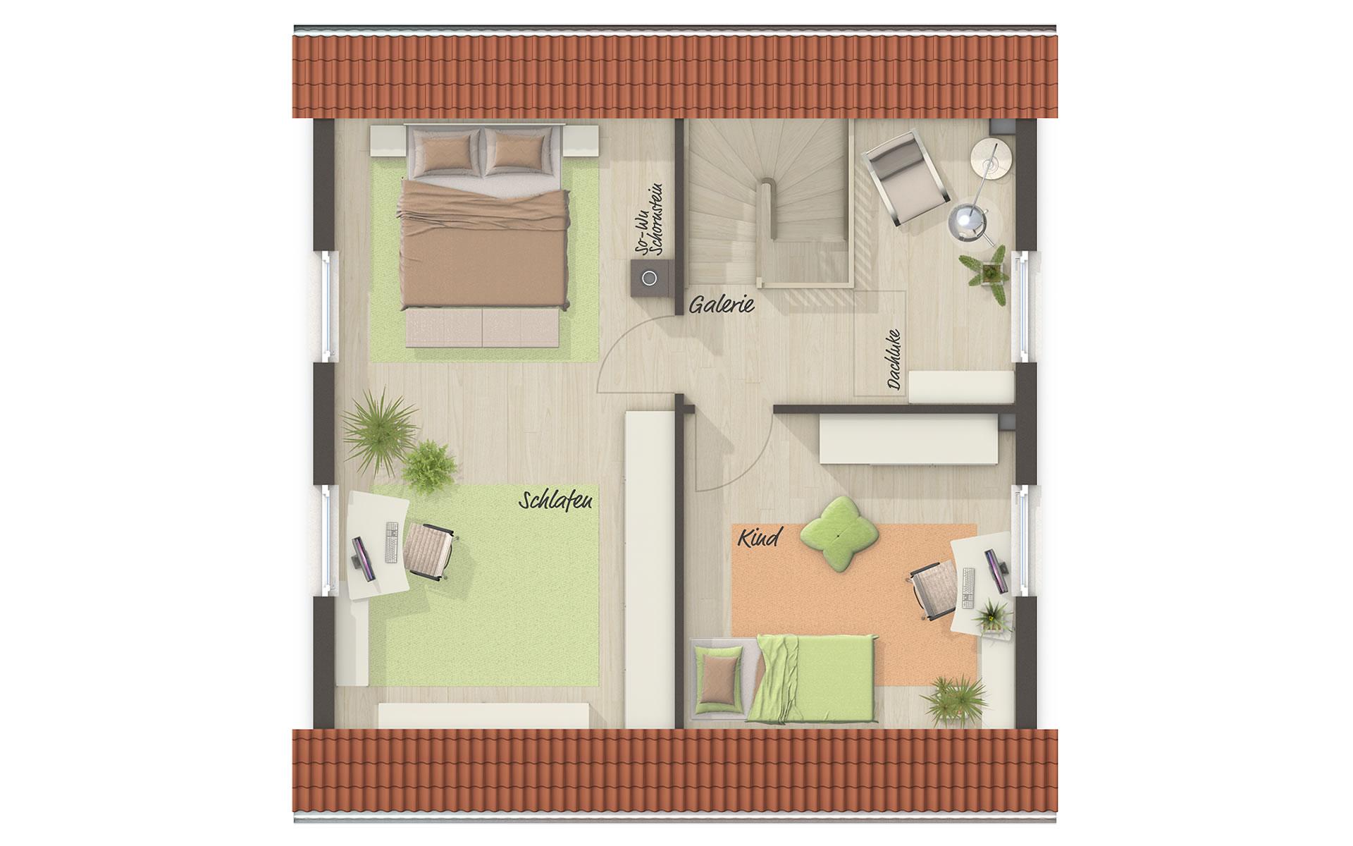 Dachgeschoss Aktionshaus Aspekt 90 von Town & Country Haus Lizenzgeber GmbH