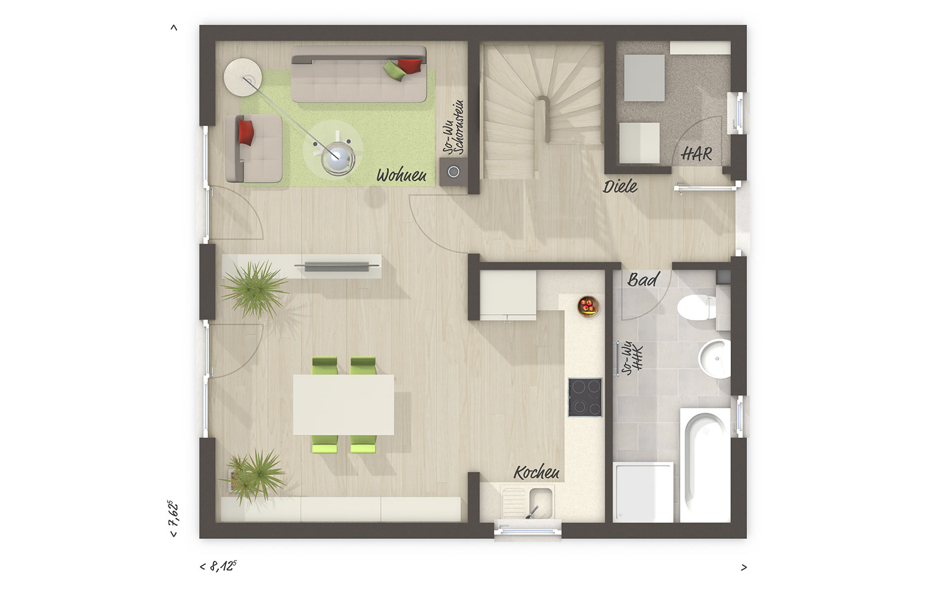 Erdgeschoss Aktionshaus Aspekt 90 von Town & Country Haus Lizenzgeber GmbH