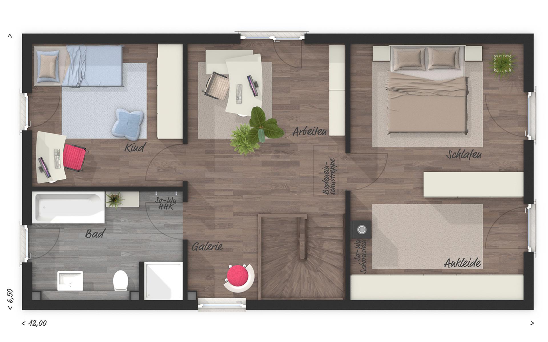 Dachgeschoss Stadthaus Aura 125 von Town & Country Haus Lizenzgeber GmbH