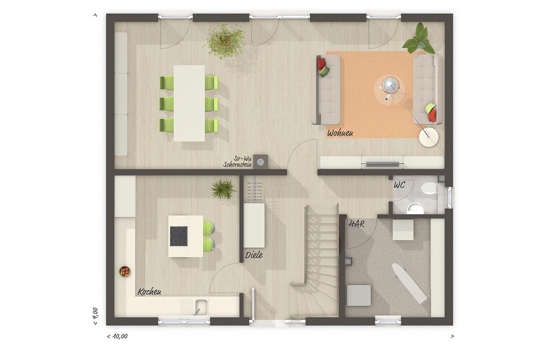 Erdgeschoss Flair 134 von Town & Country Haus Lizenzgeber GmbH