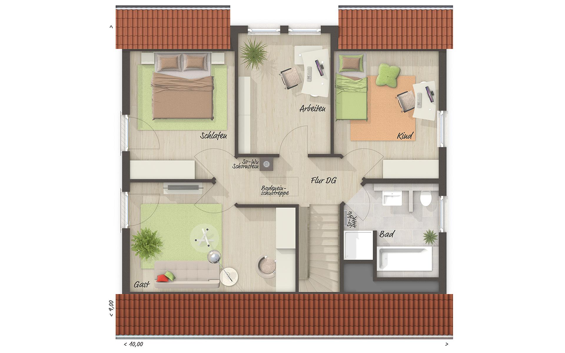 Dachgeschoss Flair 134 von Town & Country Haus Lizenzgeber GmbH