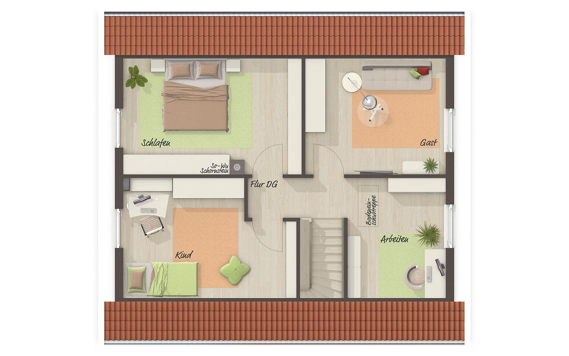 Dachgeschoss Aktionshaus Aspekt 133 von Town & Country Haus Lizenzgeber GmbH