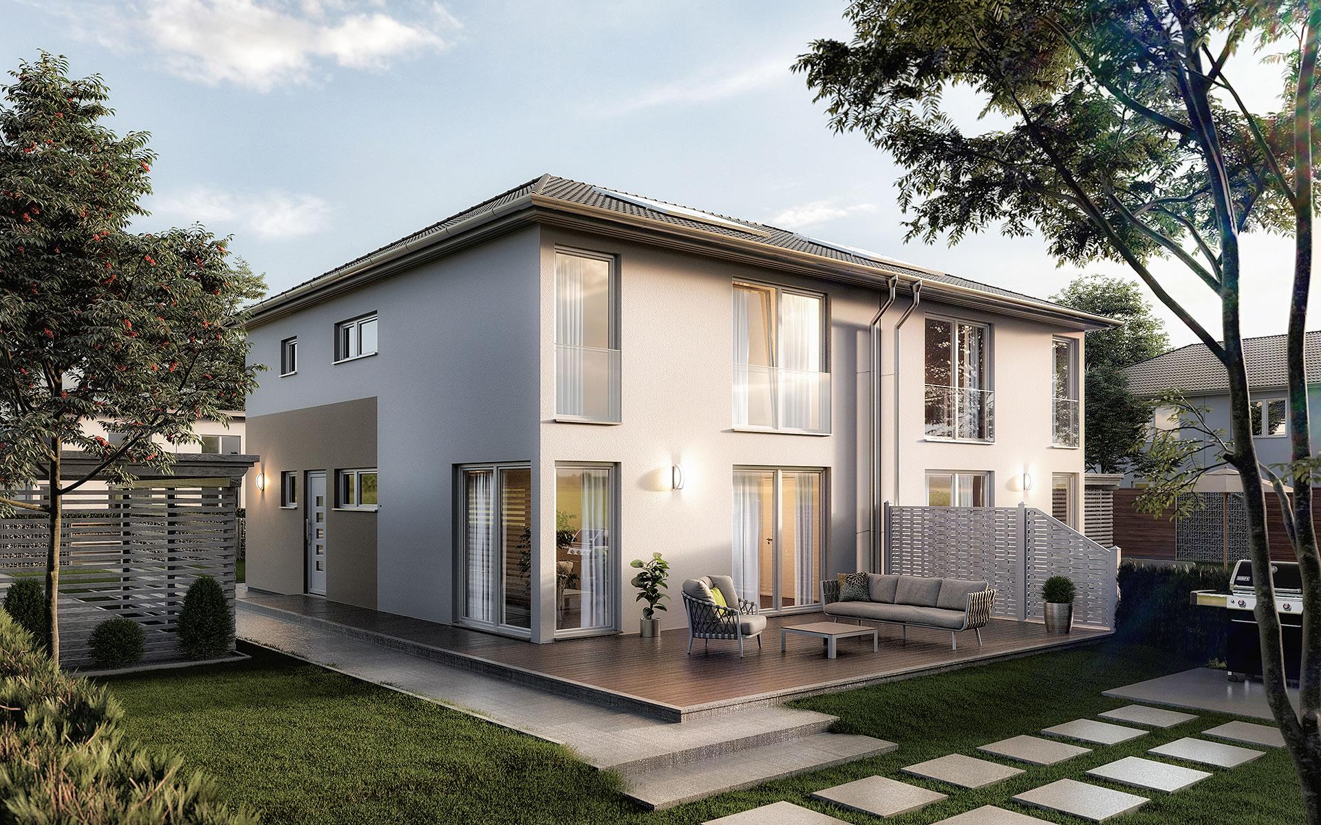 Doppelhaus Aura 136 von Town & Country Haus Lizenzgeber GmbH