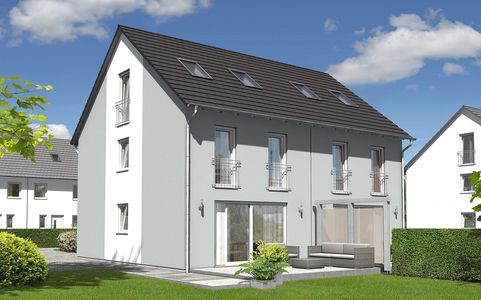 Doppelhaus Mainz 128 - modern von Town & Country Haus Lizenzgeber GmbH