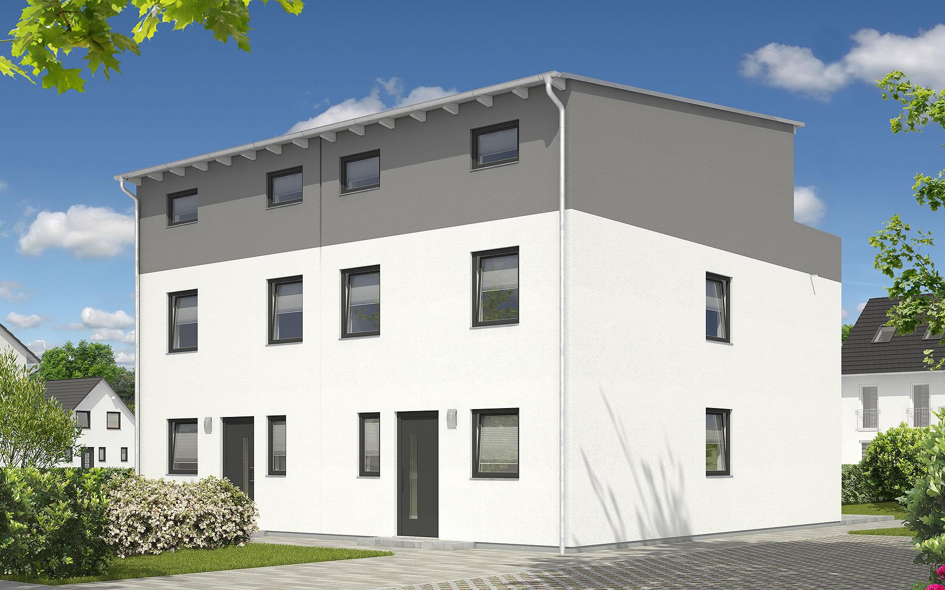 Doppelhaus Mainz 128 - modern DT von Town & Country Haus Lizenzgeber GmbH
