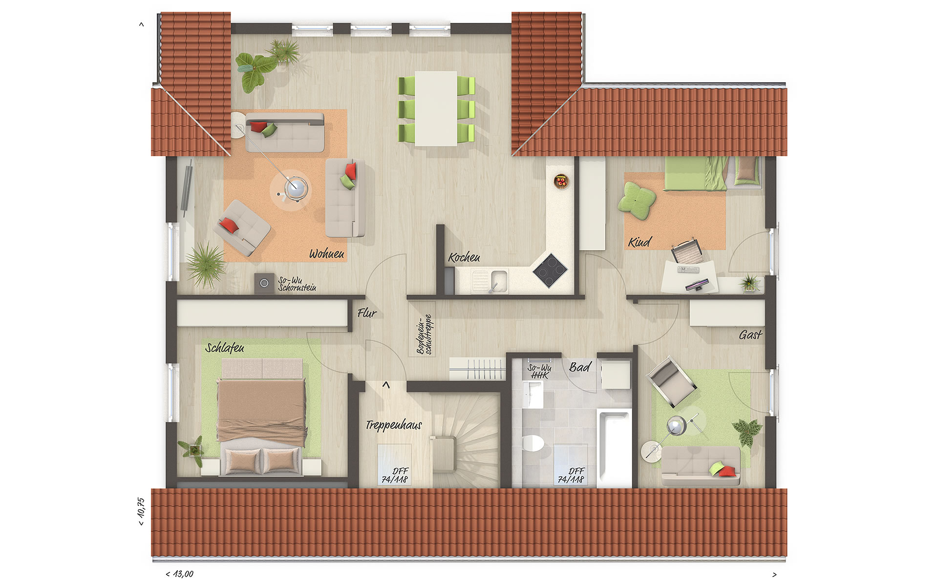 Dachgeschoss Domizil 192 von Town & Country Haus Lizenzgeber GmbH
