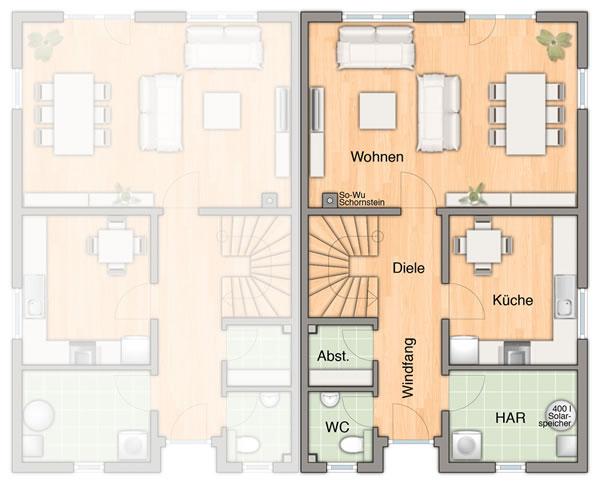 Erdgeschoss Duett  115 von Town & Country Haus Lizenzgeber GmbH