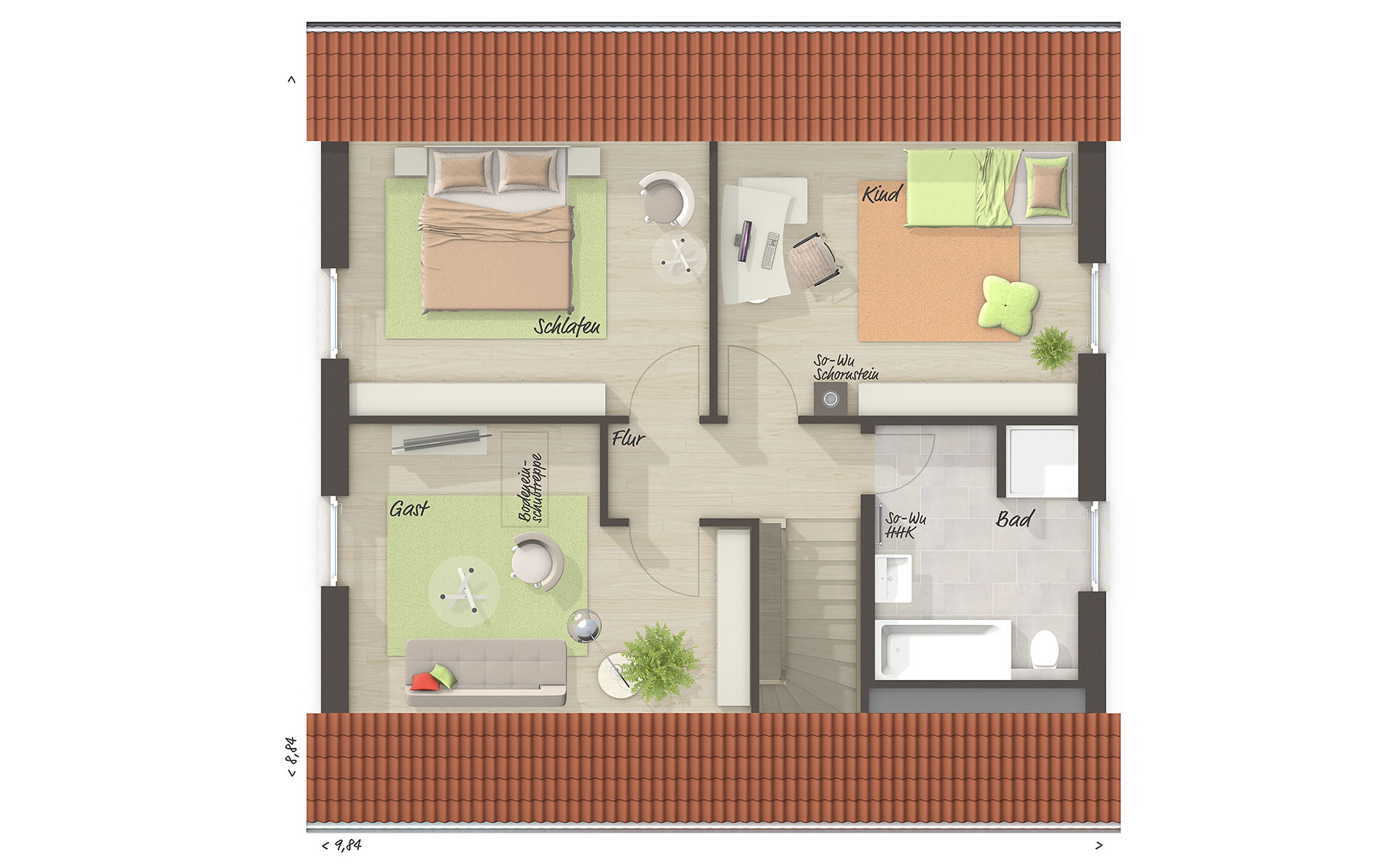 Dachgeschoss Edition Clever 138+ von Town & Country Haus Lizenzgeber GmbH