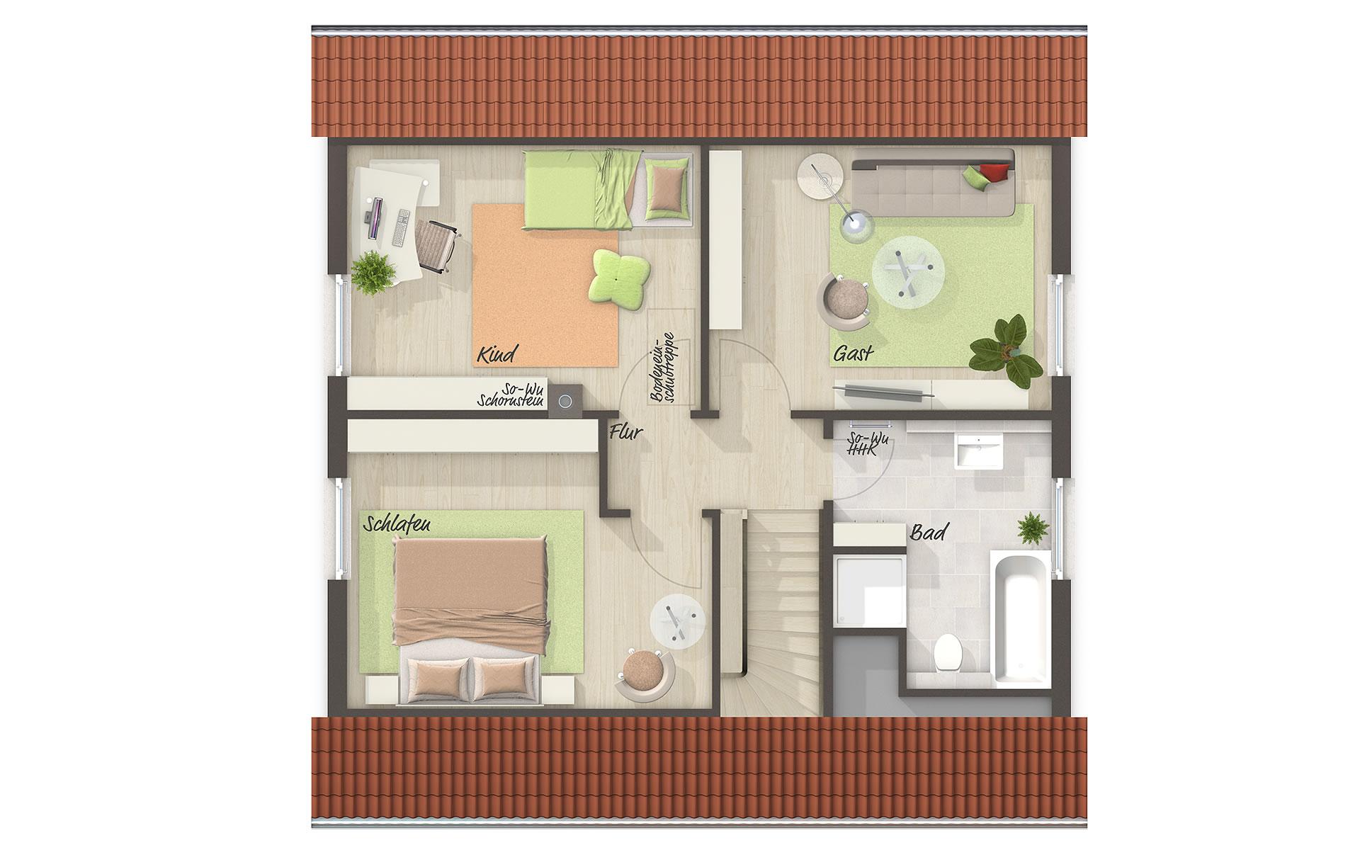 Dachgeschoss Flair 110 von Town & Country Haus Lizenzgeber GmbH