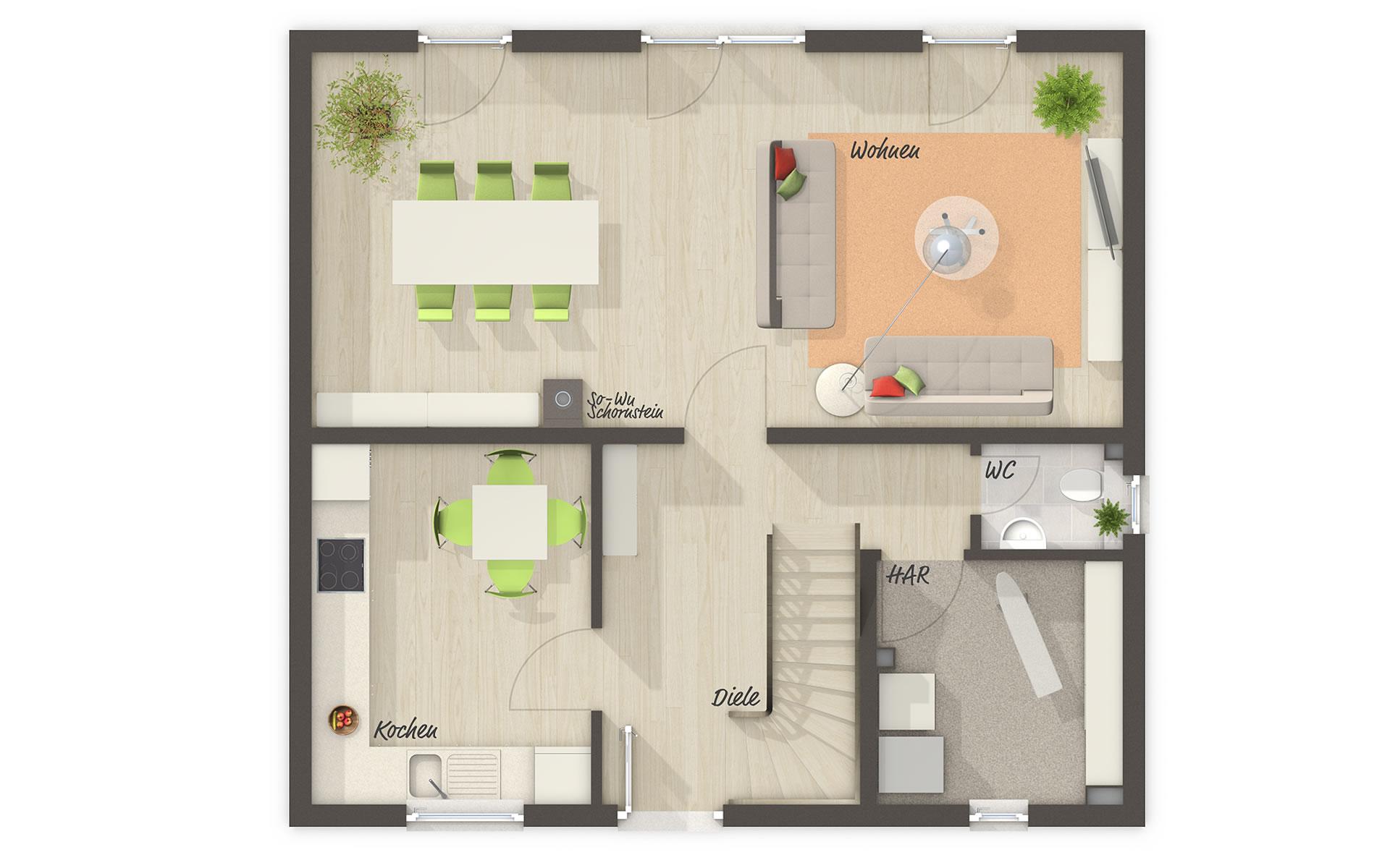 Erdgeschoss Flair 110 von Town & Country Haus Lizenzgeber GmbH