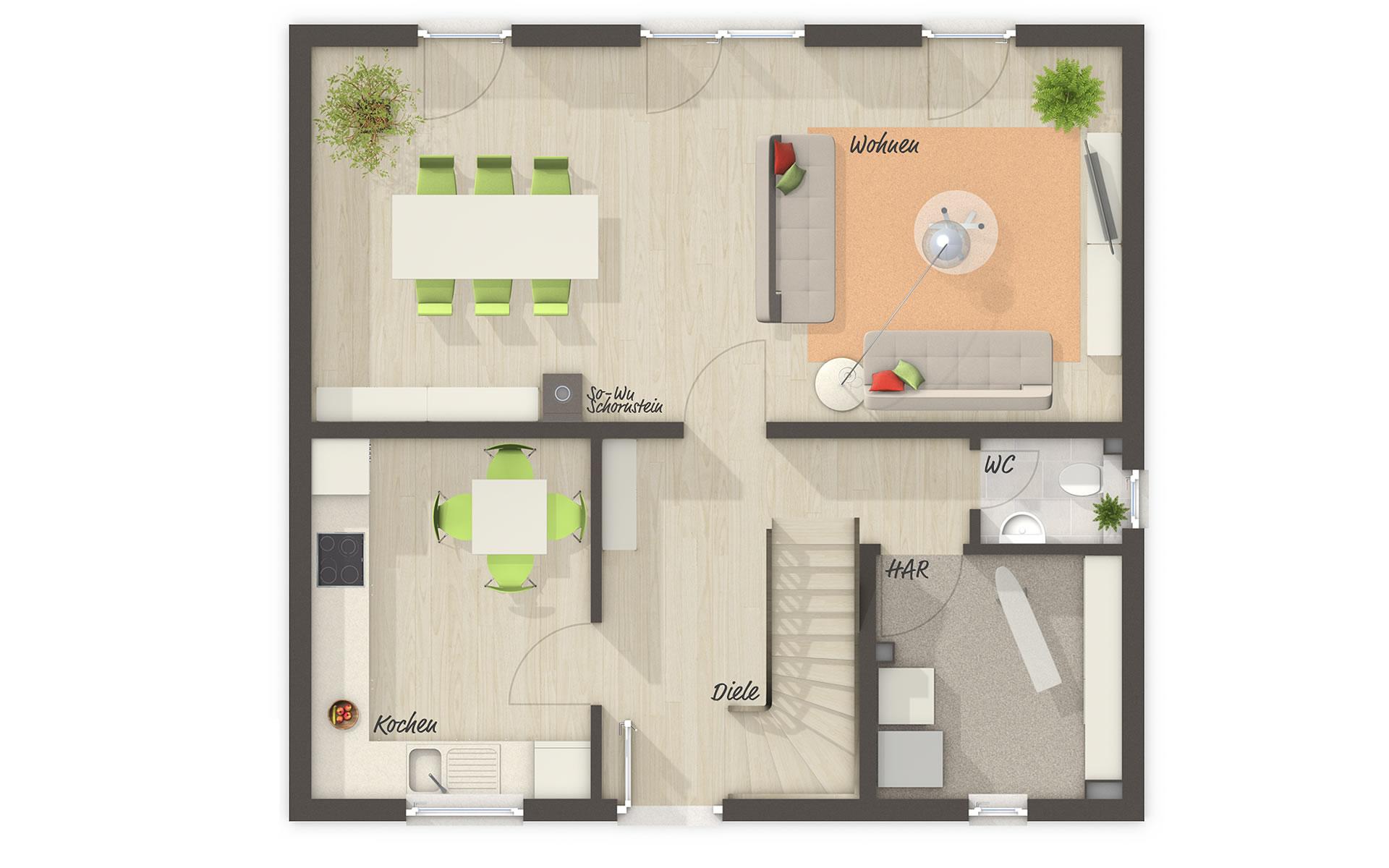 Erdgeschoss Flair 113 von Town & Country Haus Lizenzgeber GmbH