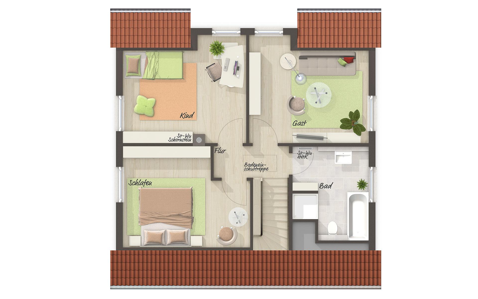 Dachgeschoss Flair 113 von Town & Country Haus Lizenzgeber GmbH