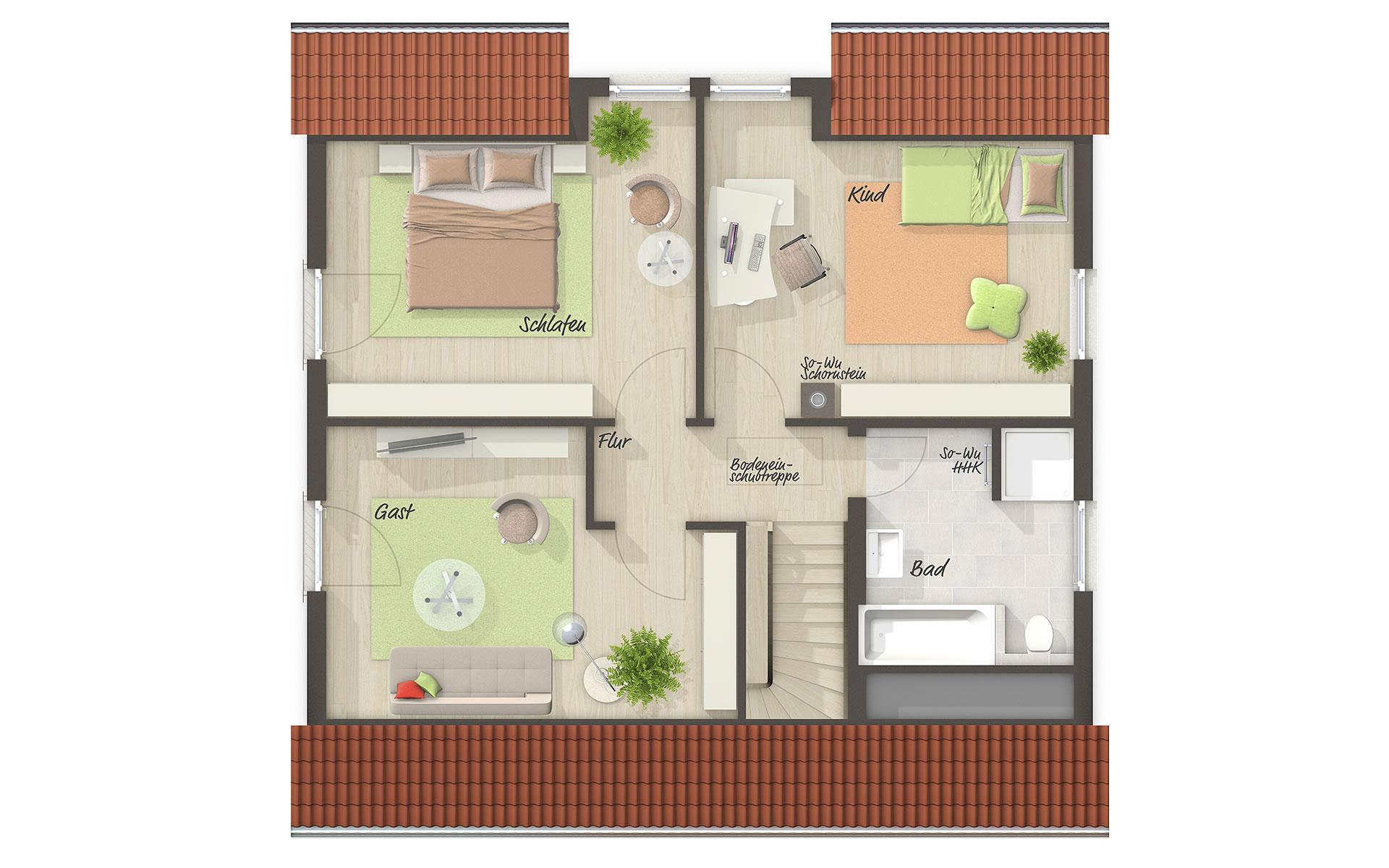 Dachgeschoss Flair 125 von Town & Country Haus Lizenzgeber GmbH