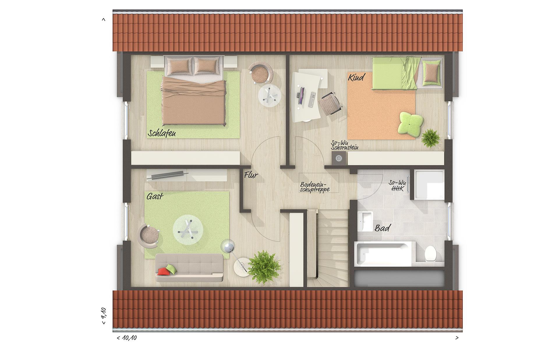 Dachgeschoss Flair 130 von Town & Country Haus Lizenzgeber GmbH