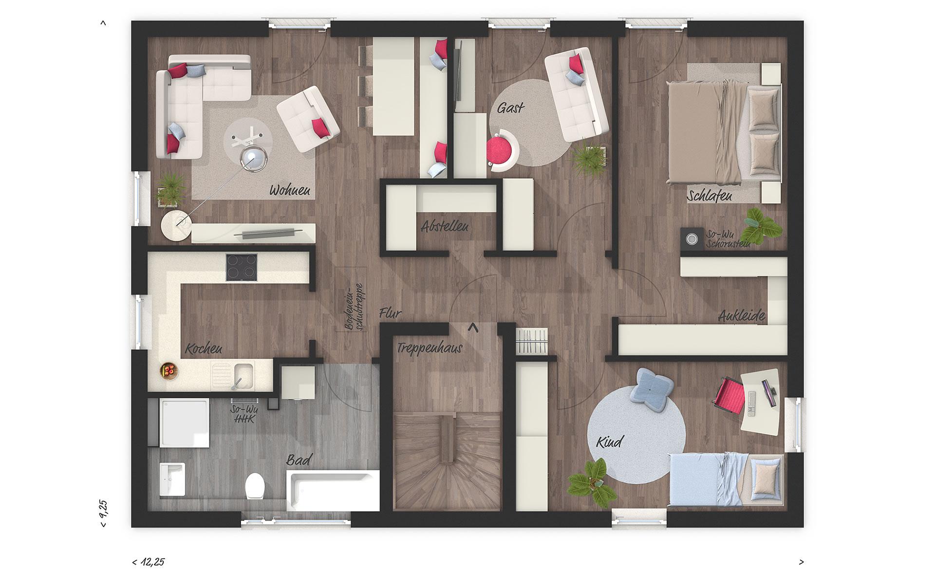 Dachgeschoss Flair 180 DUO von Town & Country Haus Lizenzgeber GmbH