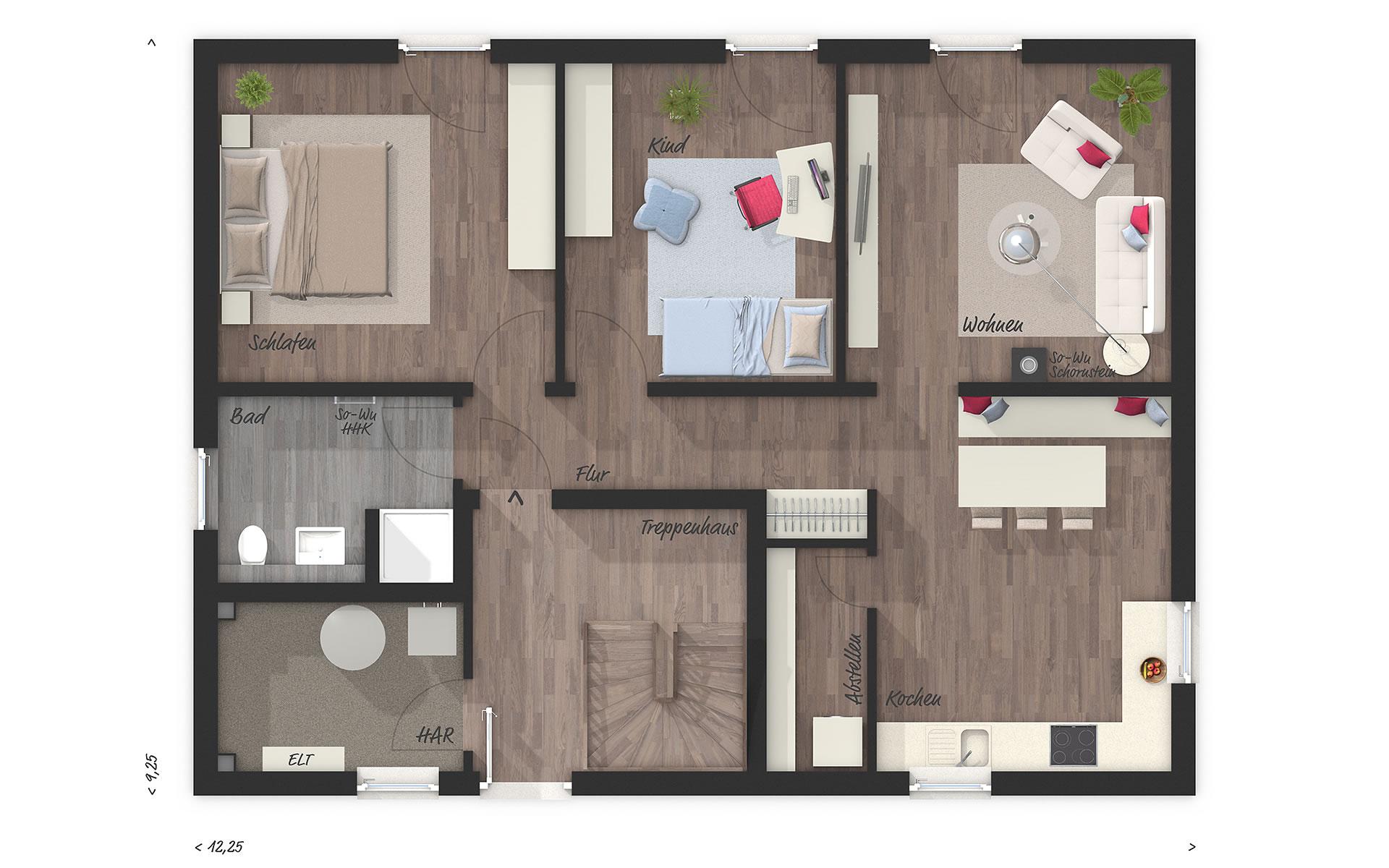Erdgeschoss Flair 180 DUO von Town & Country Haus Lizenzgeber GmbH