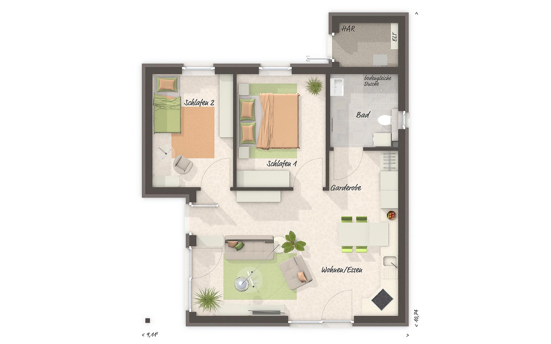 Erdgeschoss Glückswelthaus 61 von Town & Country Haus Lizenzgeber GmbH