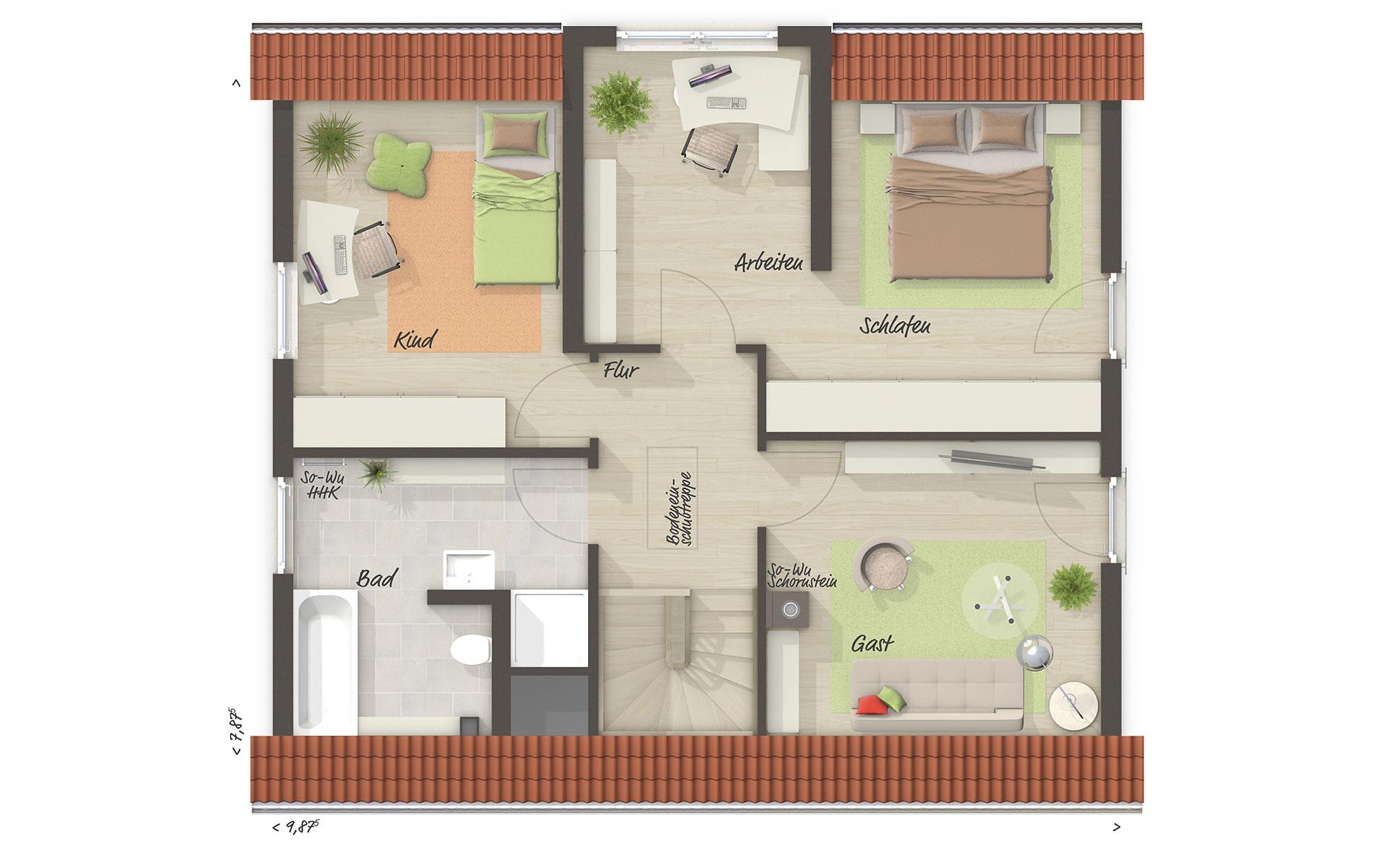 Dachgeschoss Lichthaus 121 von Town & Country Haus Lizenzgeber GmbH