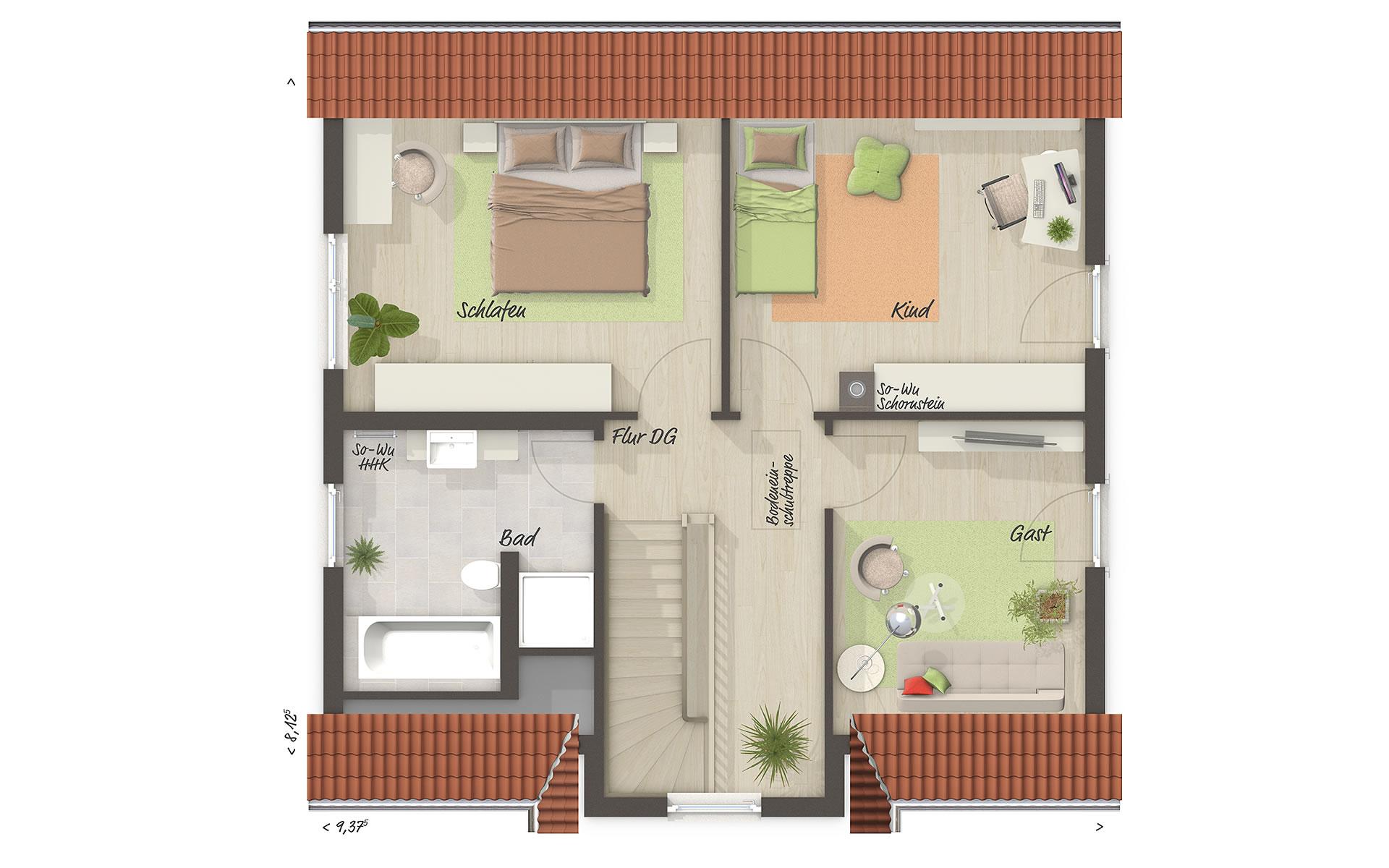 Dachgeschoss Lifestyle 120 von Town & Country Haus Lizenzgeber GmbH