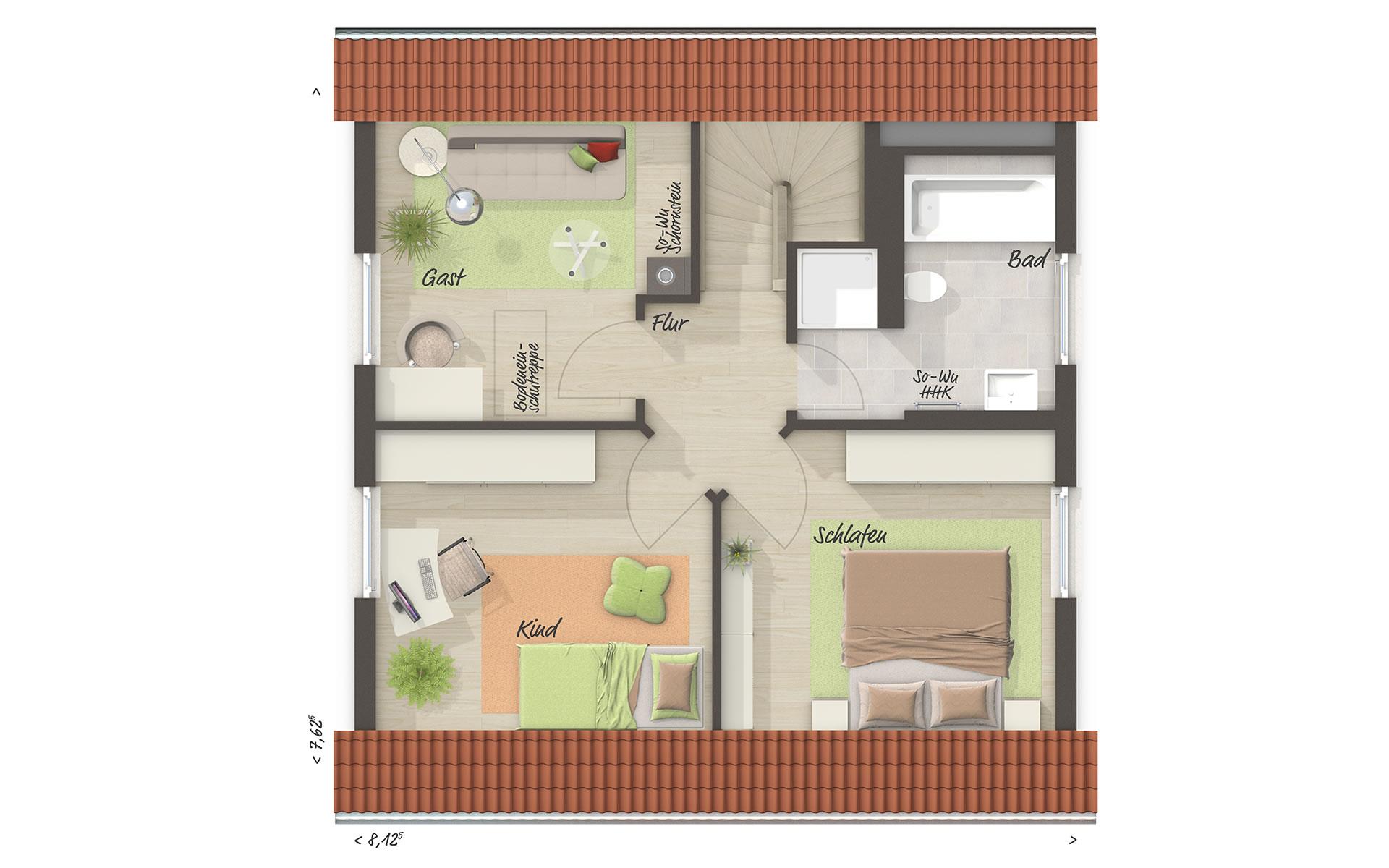 Dachgeschoss Raumwunder 90 von Town & Country Haus Lizenzgeber GmbH