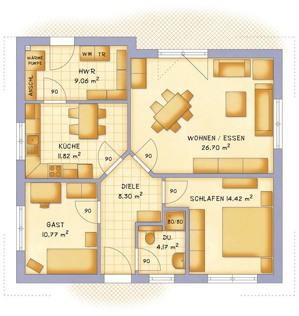 Erdgeschoss VarioClassic 85 von VarioSelf Lizenzgesellschaft mbH