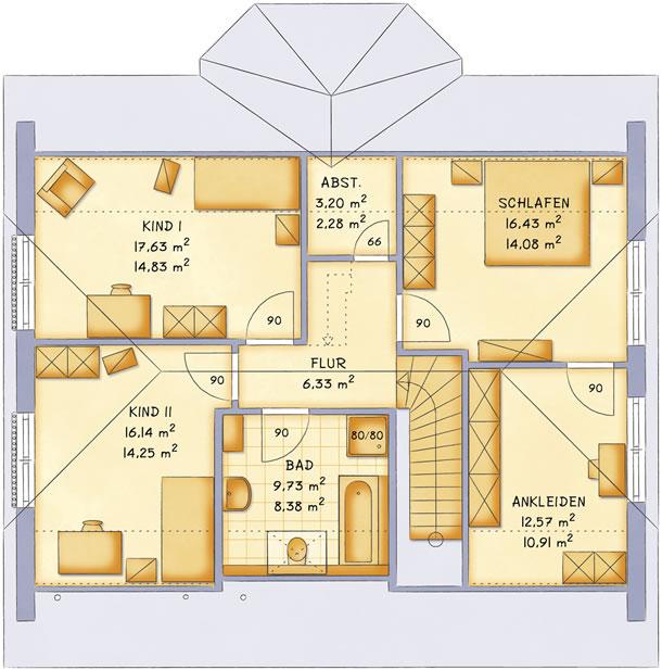 Dachgeschoss VarioFamily 183 von VarioSelf Lizenzgesellschaft mbH