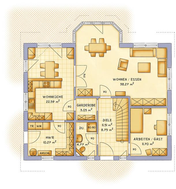 Erdgeschoss VarioFamily 183 von VarioSelf Lizenzgesellschaft mbH
