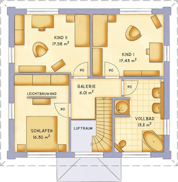 Obergeschoss VarioCity 148 von VarioSelf Lizenzgesellschaft mbH