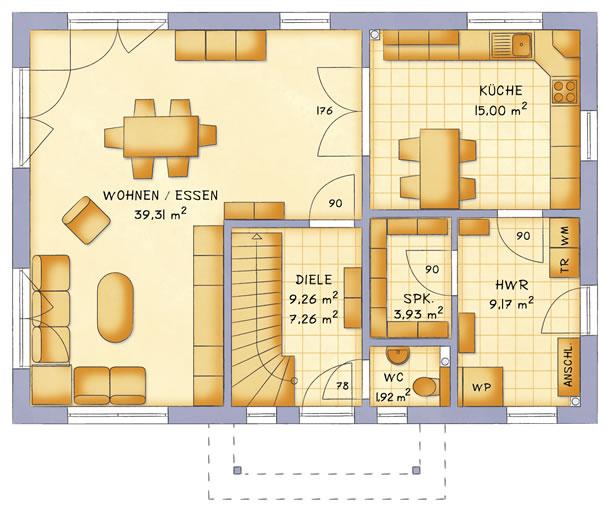 Erdgeschoss VarioCity 153 von VarioSelf Lizenzgesellschaft mbH