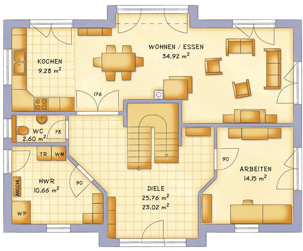 Erdgeschoss VarioCity 195 von VarioSelf Lizenzgesellschaft mbH