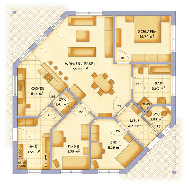 Erdgeschoss VarioClassic 114 von VarioSelf Lizenzgesellschaft mbH