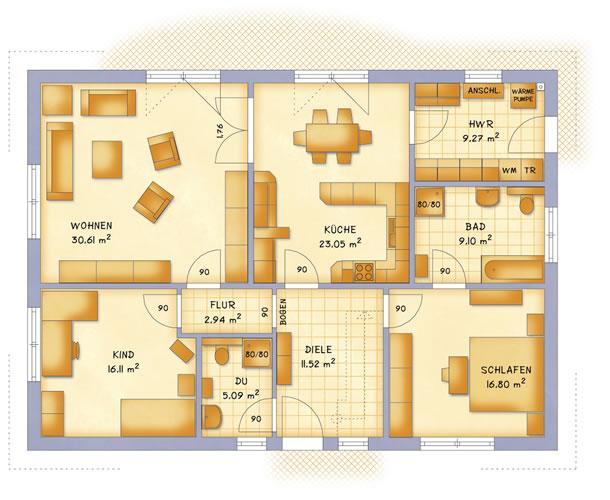 Erdgeschoss VarioClassic 124 von VarioSelf Lizenzgesellschaft mbH