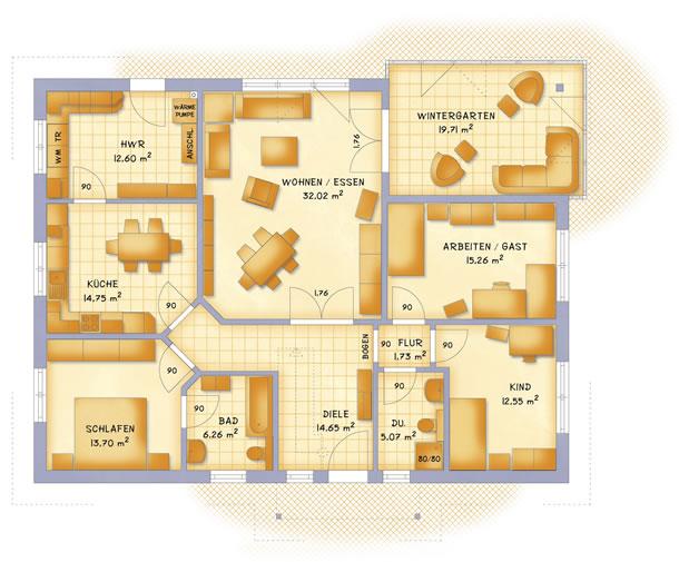 Erdgeschoss VarioClassic 148 von VarioSelf Lizenzgesellschaft mbH