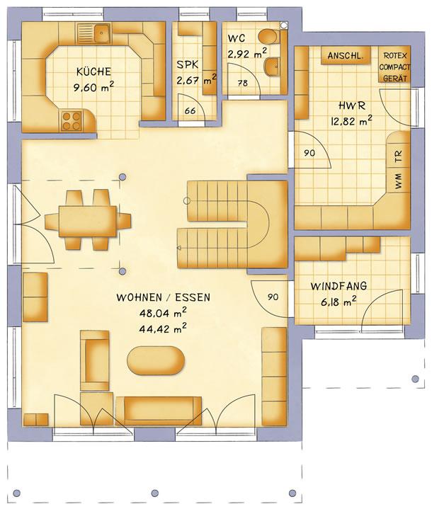 Erdgeschoss VarioContour 166 von VarioSelf Lizenzgesellschaft mbH