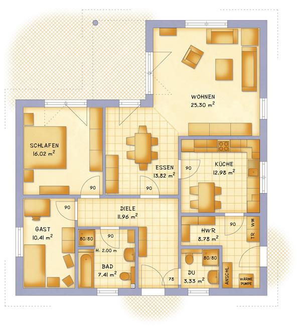 Erdgeschoss VarioCorner 110 von VarioSelf Lizenzgesellschaft mbH