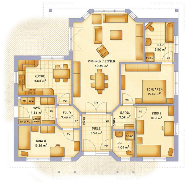 Erdgeschoss VarioCorner 134 von VarioSelf Lizenzgesellschaft mbH