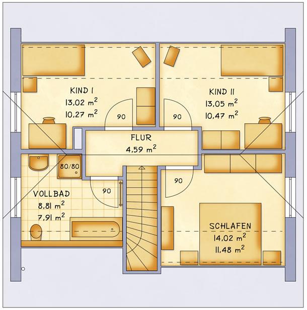 Dachgeschoss VarioFamily 115 von VarioSelf Lizenzgesellschaft mbH