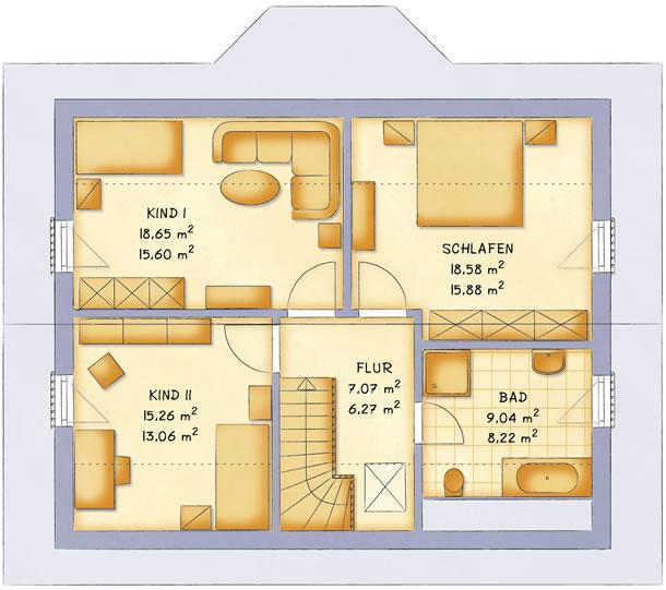 Dachgeschoss VarioFamily 137 von VarioSelf Lizenzgesellschaft mbH