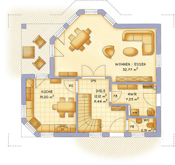 Erdgeschoss VarioFamily 137 von VarioSelf Lizenzgesellschaft mbH