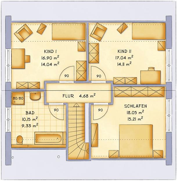 Dachgeschoss VarioFamily 141 von VarioSelf Lizenzgesellschaft mbH