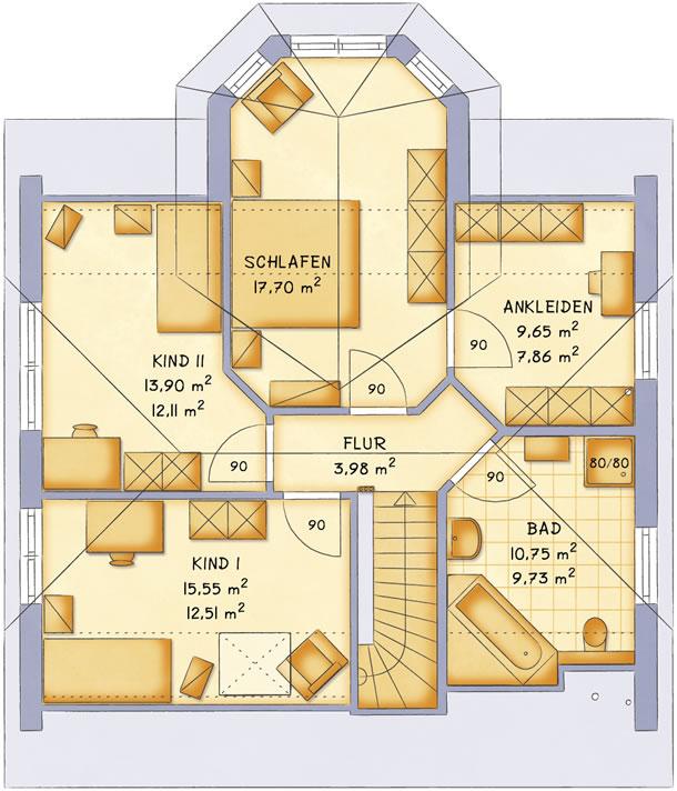Dachgeschoss VarioFamily 149 von VarioSelf Lizenzgesellschaft mbH