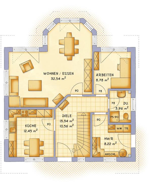 Erdgeschoss VarioFamily 149 von VarioSelf Lizenzgesellschaft mbH