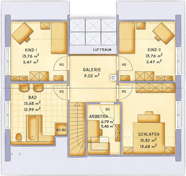 Dachgeschoss VarioFamily 159 von VarioSelf Lizenzgesellschaft mbH