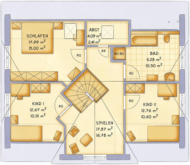 Dachgeschoss VarioFamily 160 von VarioSelf Lizenzgesellschaft mbH