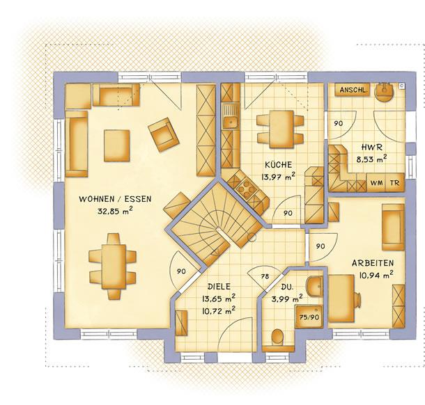Erdgeschoss VarioFamily 160 von VarioSelf Lizenzgesellschaft mbH